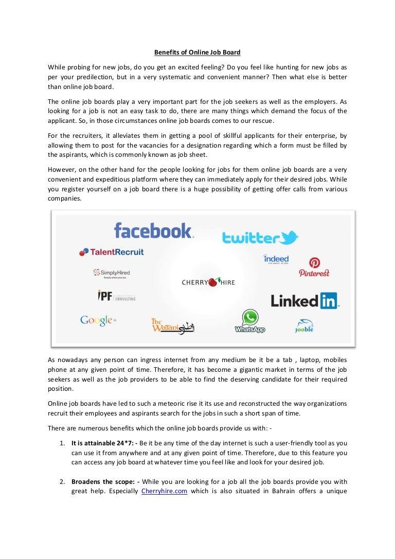 Benefits of-online-job-board