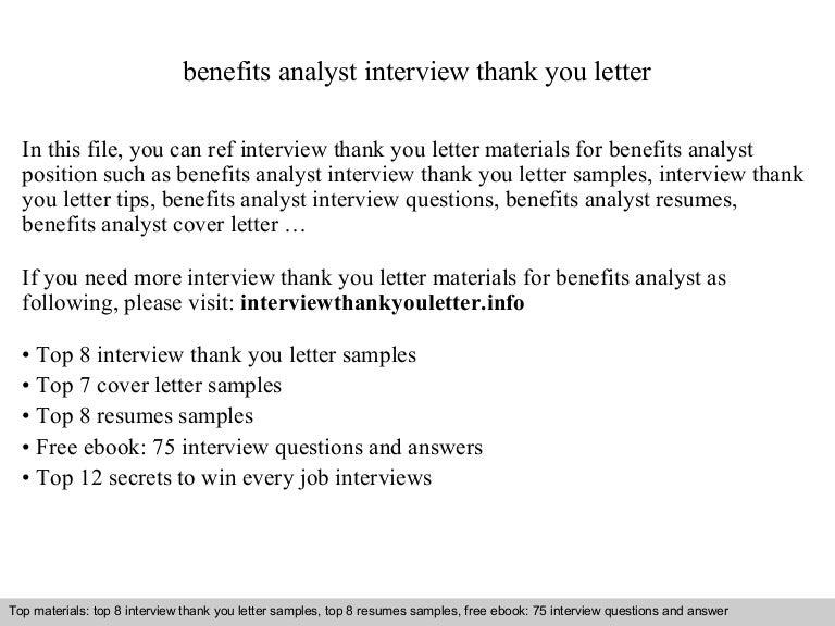 Benefits analyst