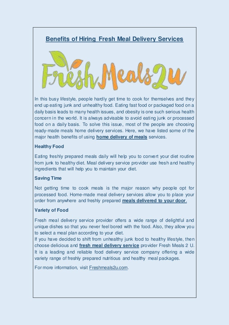 fresh food diet delivery