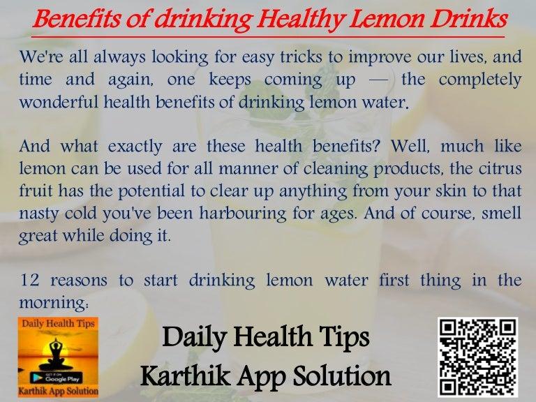Benefits of Drinking Health Lemon Drinks