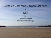 Creative Commons, Open Licences and OER