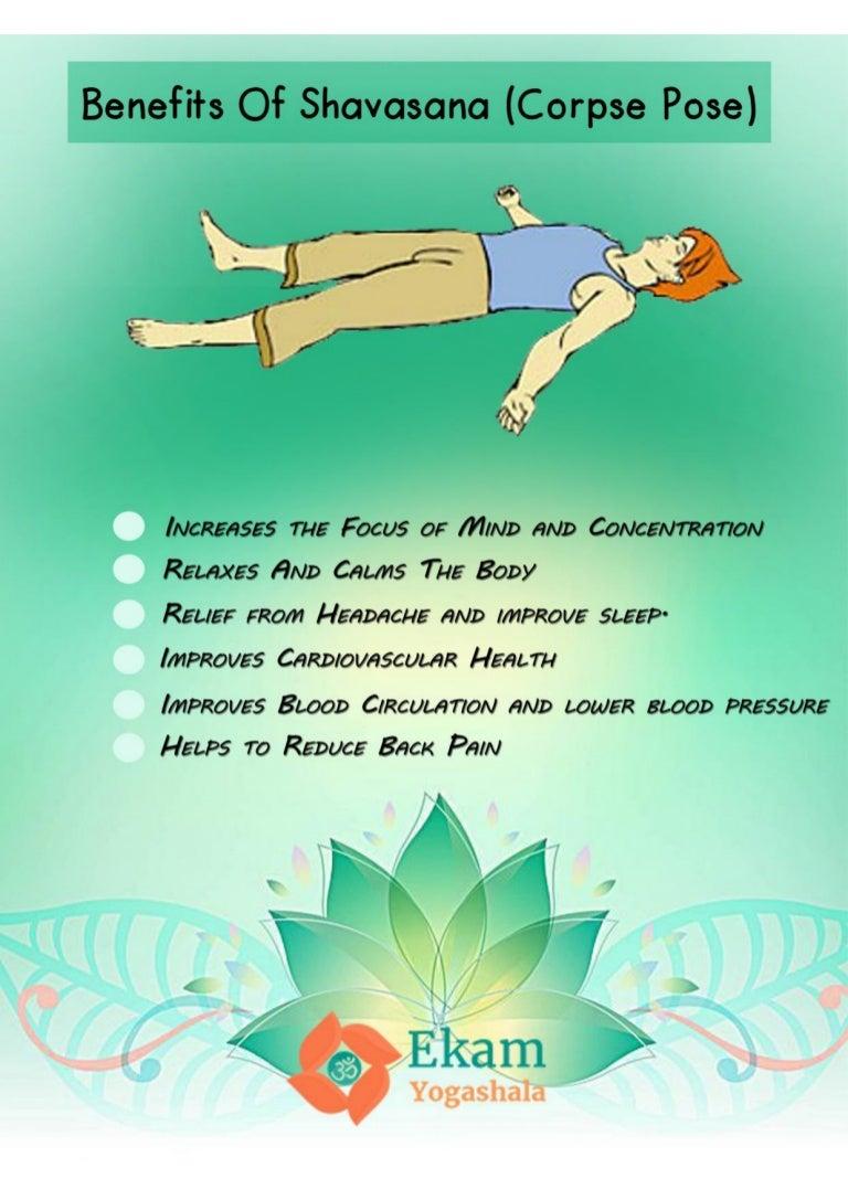 Benefits of Shavasana corpse pose