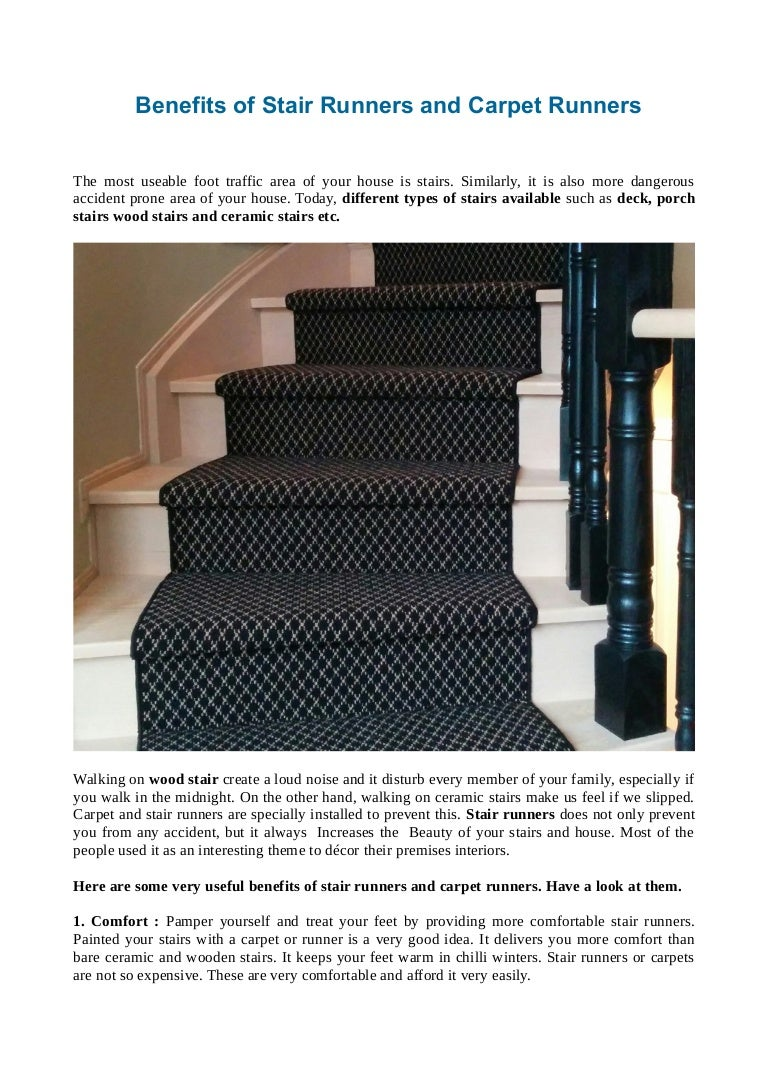 Benefits Of Stair Runners And Carpet Runners