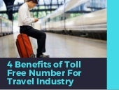4 Benefits of Toll Free Numbers for Travel Industry