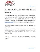 Benefits of using cad cam cnc control software