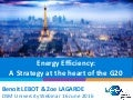 Energy Efficiency: A strategy at the heart of the G20