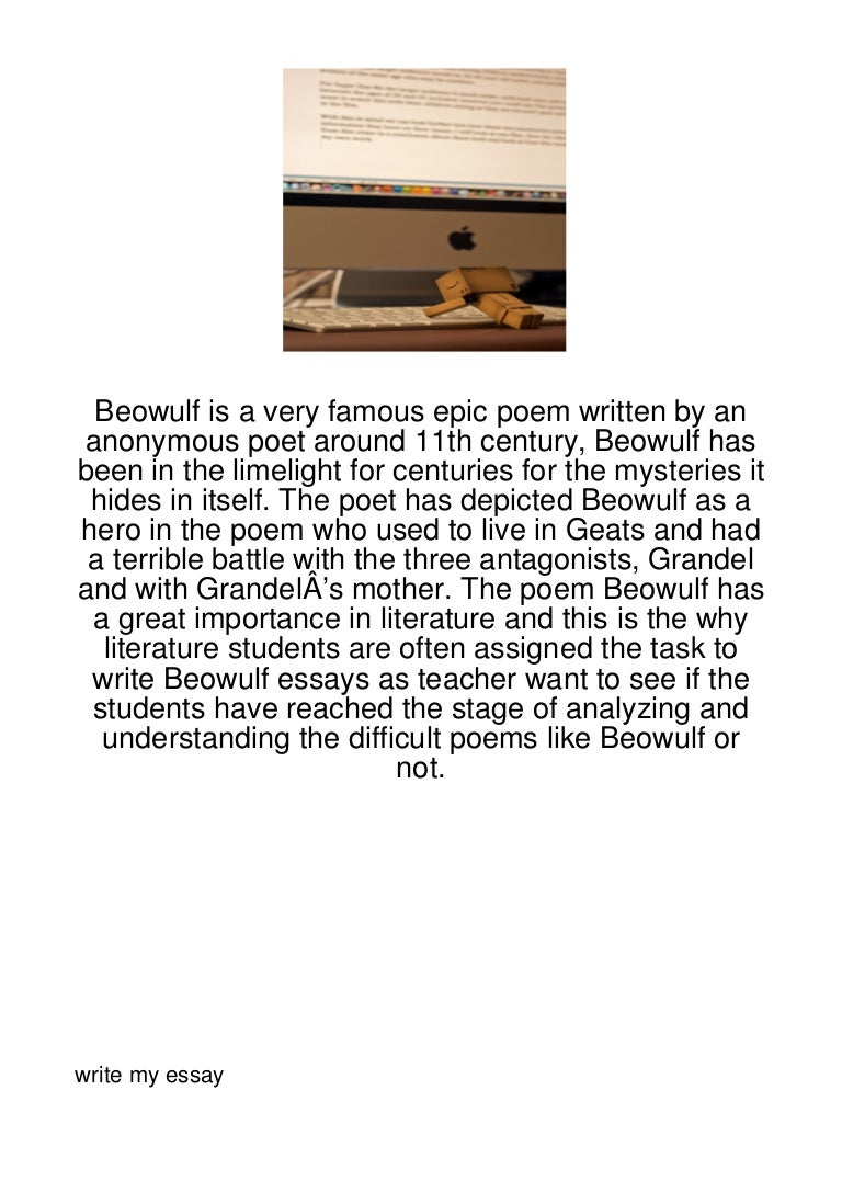 Beowulf Is A Very Famous Epic Poem Written By An A289
