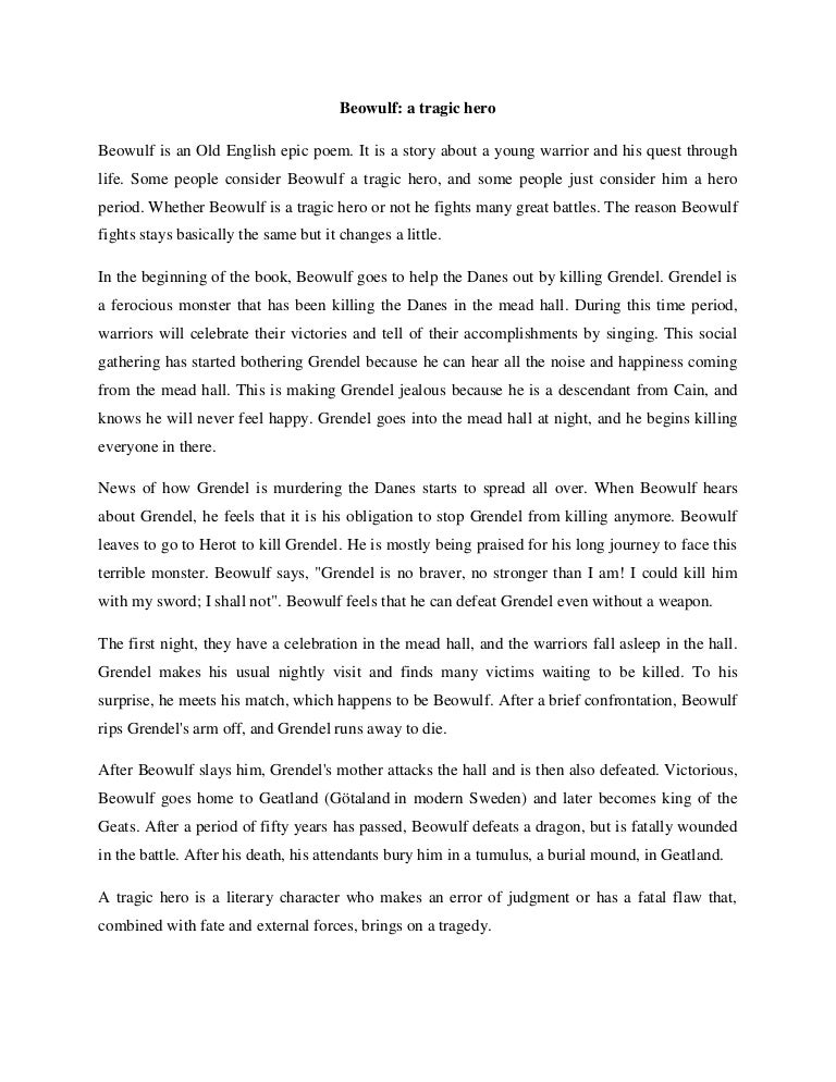 Thesis statement beowulf epic hero examples of how to write a newspaper article