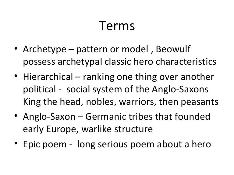 examples of archetypes in beowulf
