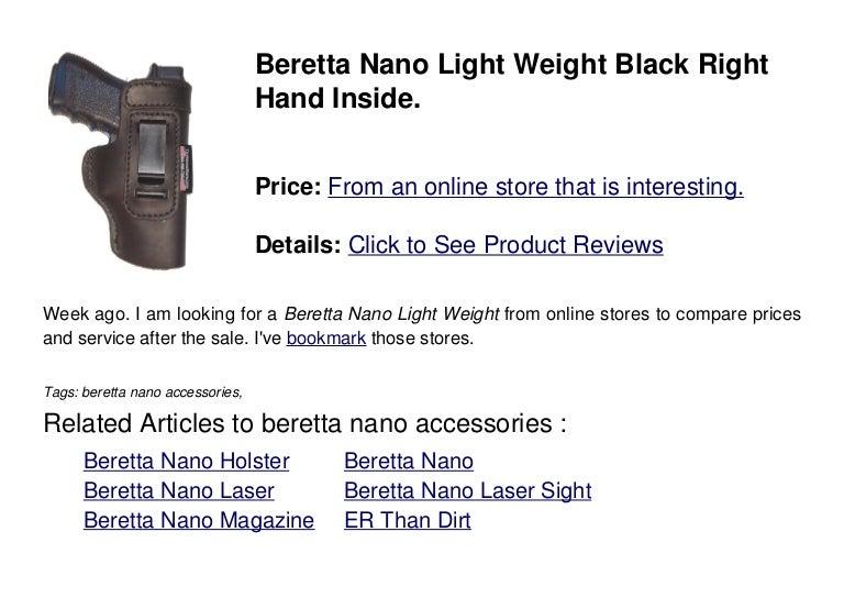 Beretta nano accessories