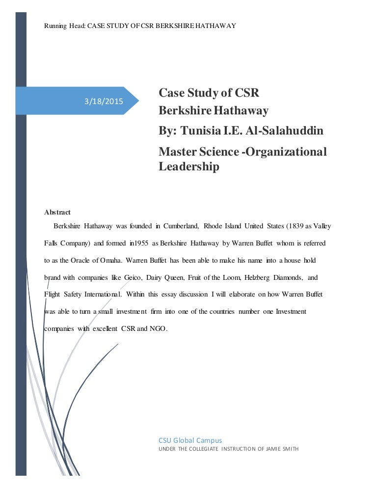 case study csr This report identifies corporate social responsibility (csr) as a demanding topic which takes into deep understanding of csr by depicting a road map of core subjects with related issues and implementation based on the principles of csr and discusses briefly on.