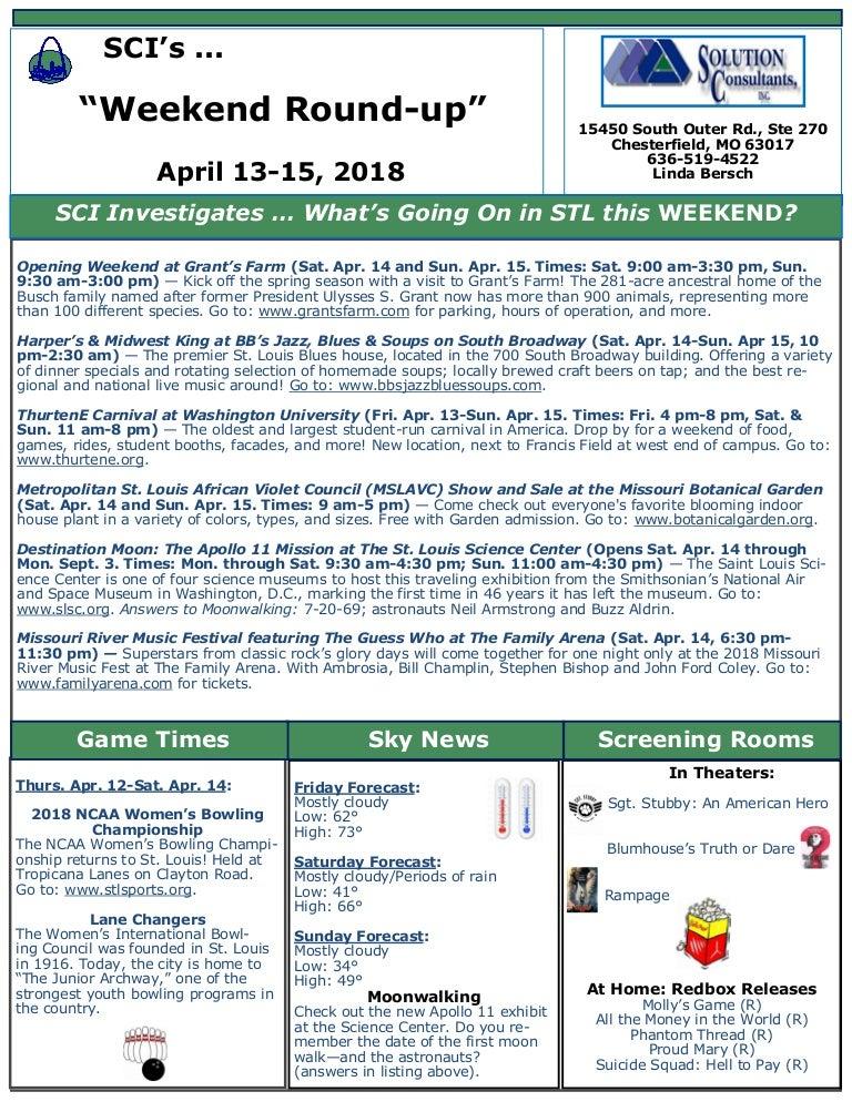 90dc9cf90f Bersch weekend round up newsletter - april 13-15 2018