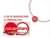 Il Pop-Up Coworking Friday al CowoShare 2020
