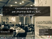 Content marketing per imprese B2B vs. B2C, cosa cambia? #WMExpo