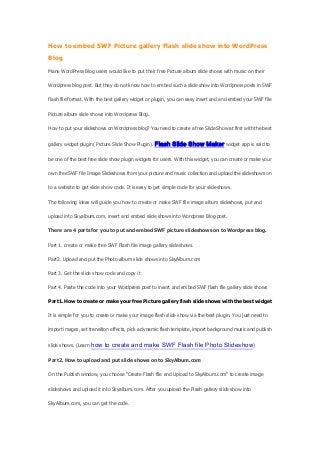Best free-word press-blog-slideshow-plugin-photo-slide-show-widget-application