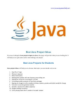 Best Java Project Topics