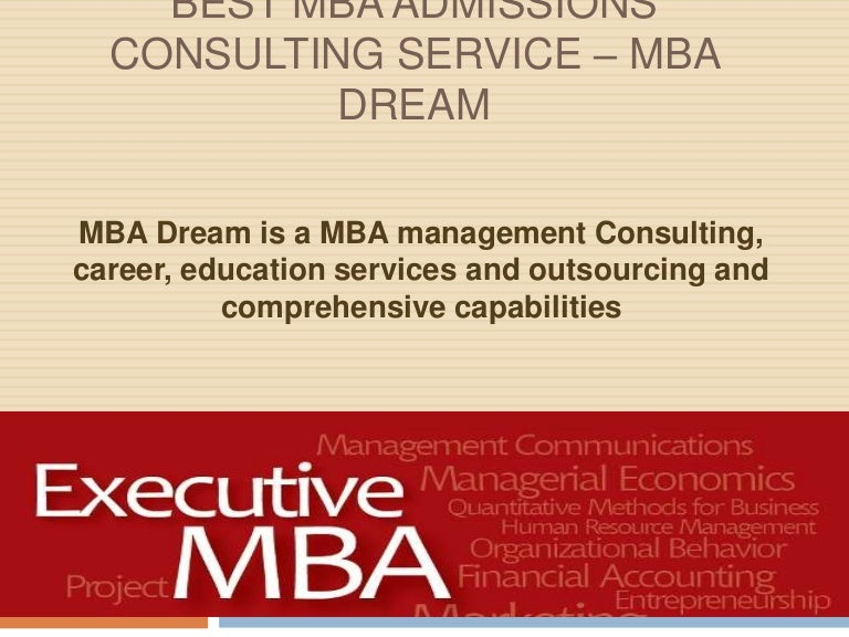 mba consultant services