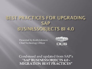 Best practices-for-upgrading-to-sap-bi-4.0