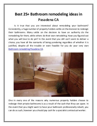 Best 25+ bathroom remodeling ideas in pasadena ca arrowheadmyhome