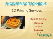 Engineering Technique - Best 3D Printing Services Provider in Gujarat, India