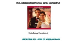 Best Audiobooks Free Download Dantes Marriage Pact