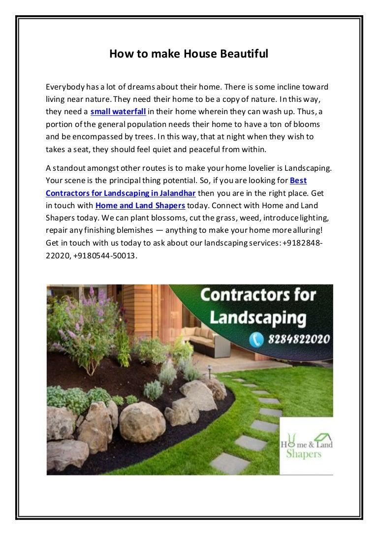 Best Contractors For Landscaping In Jalandhar