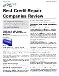 Best Credit Repair Companies Review