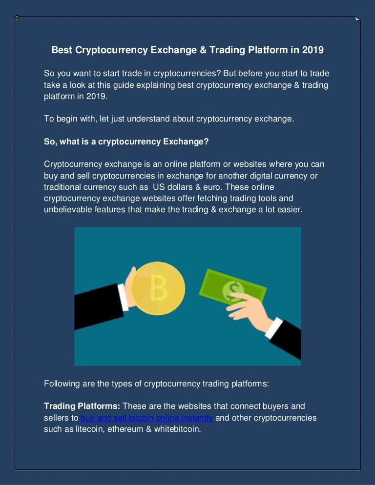 cryptocurrency exchange online