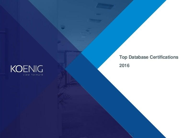 Best Database Certifications 2016