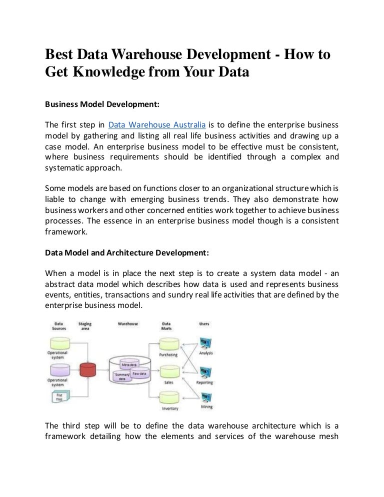 Best Data Warehouse Development - How to Get Knowledge From Your Da…