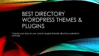Best Directory WordPress Themes & Plugins