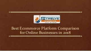 Best ecommerce platform comparison for online businesses in 2018