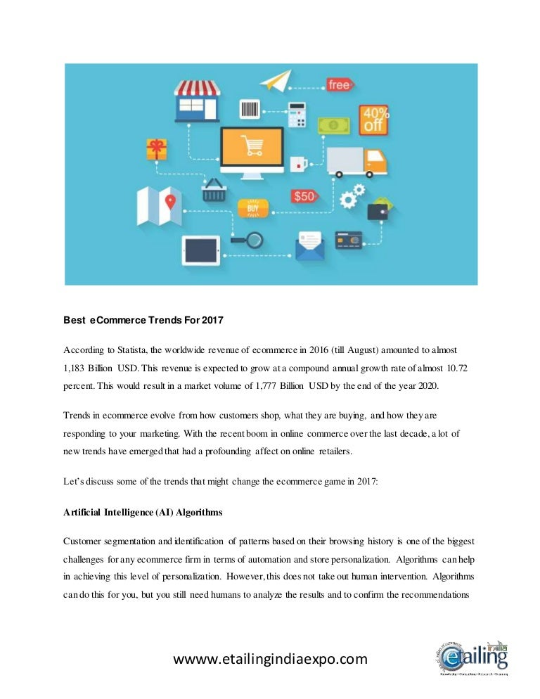 Online Shopping Trends 2020.Best E Commerce Trends For 2017