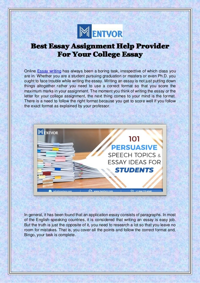 Best Essay Assignment Help Provider For Your College Essay
