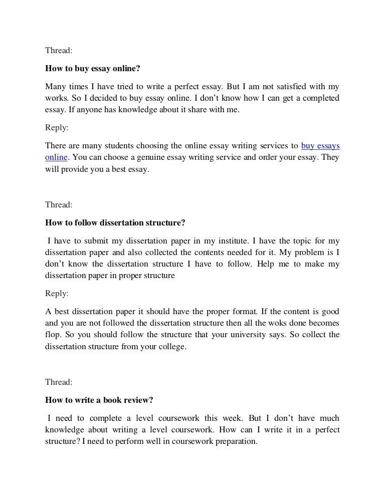 proper essay form