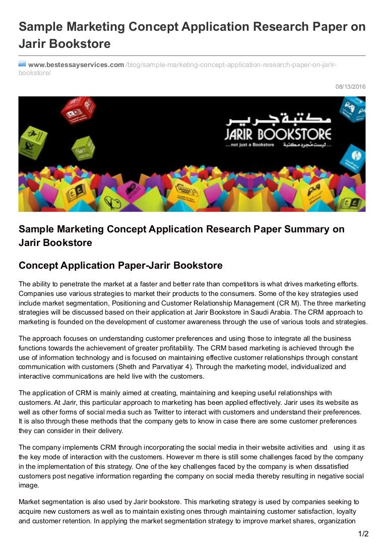 bestessayservices com sample marketing concept application research