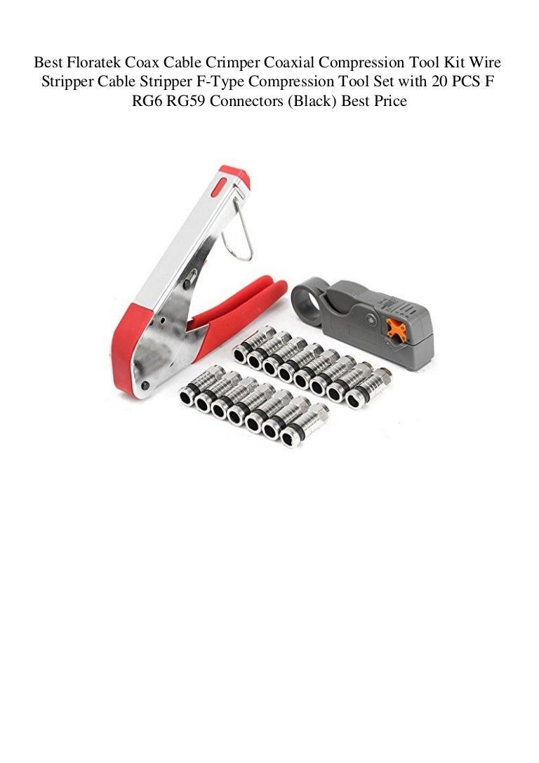 Coaxial Compression F Connector Crimper Stripper Tool Kit RG6 RG59 Coax Cable