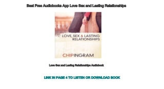 Best Free Audiobooks App Love Sex and Lasting Relationships