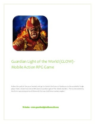 Best free hack and slash action rpg game for i os & android guardian light of the world (glow)