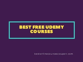 Best free udemy courses