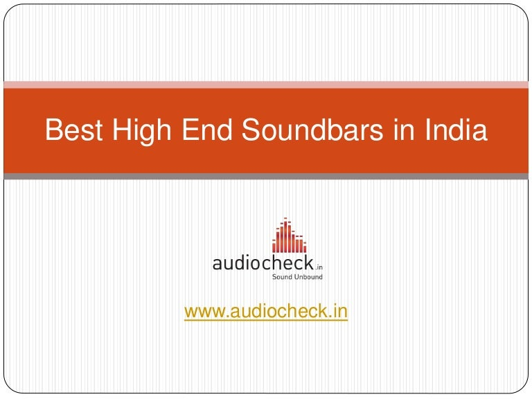 Best High End Soundbars in India