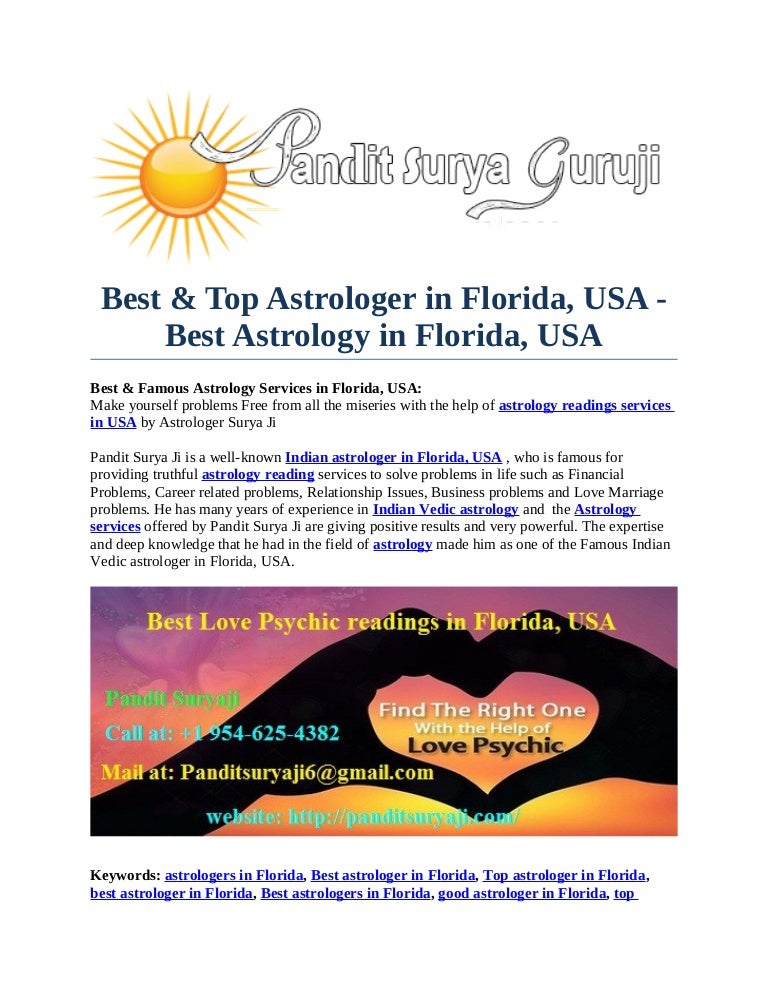 Best & Top Astrologer in Florida, USA - Best Astrology in Florida, USA