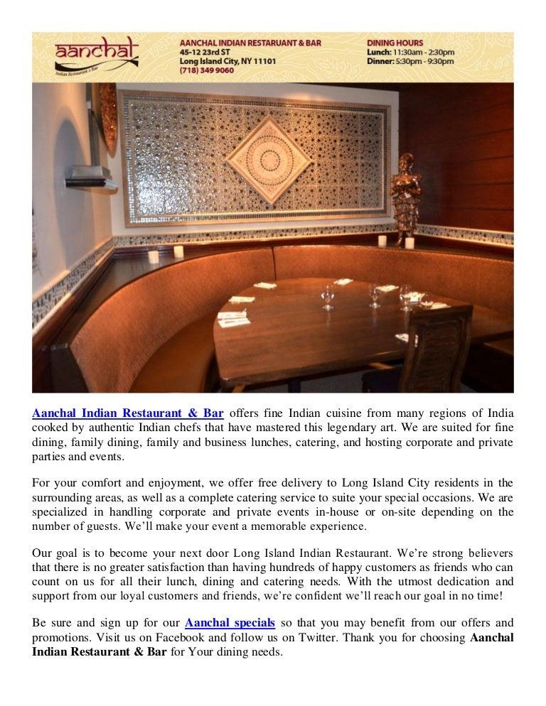 Aanchal Indian Restaurant Bar