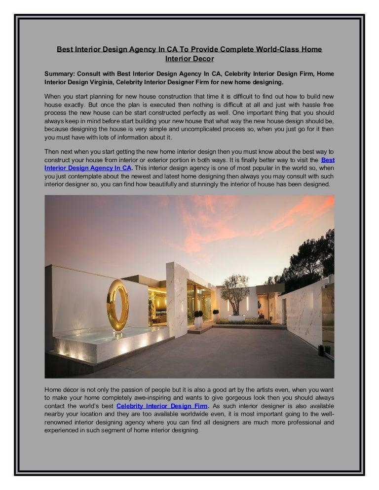 Interior Design Agency In Ca Celebrity Interior Design Firm Home