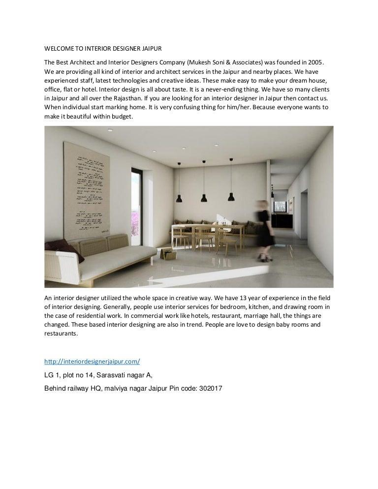 Best Interior Designer In Jaipur Ll Mukesh Soni Associates Interio