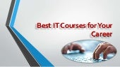 Best it courses for your career