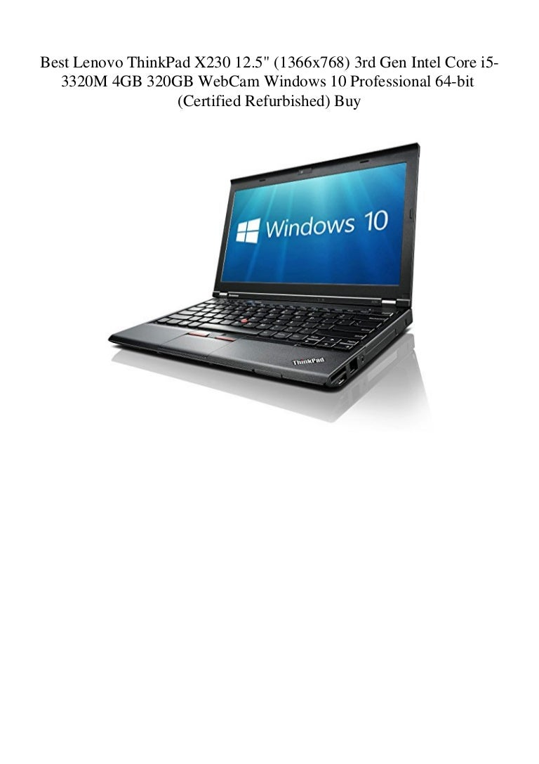 Best Lenovo Thinkpad X230 12 5 1366x768 3rd Gen Intel Core I5 3320m