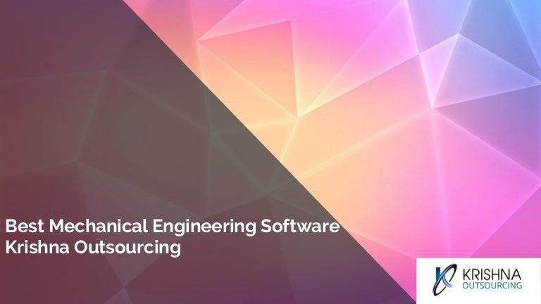 Best Mechanical Engineering Software Krishna Outsourcing