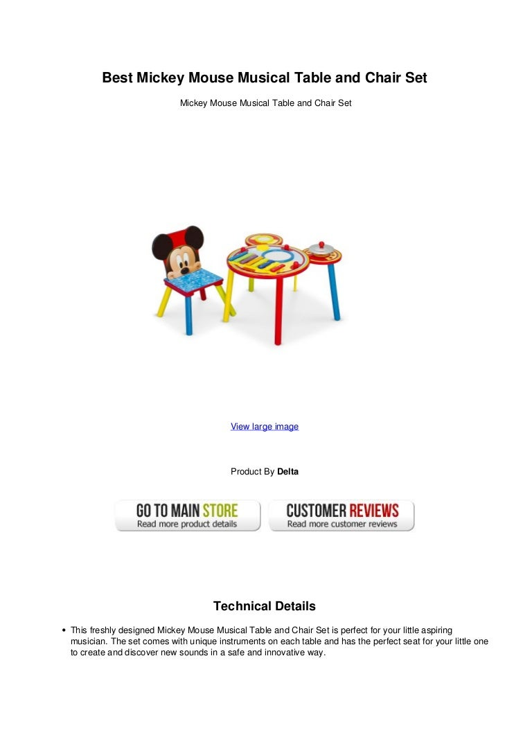 Best mickey mouse musical table and chair set