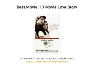 Best Movie HD Movie Love Story